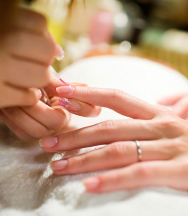 252 West Salon nail care services such as Manicure and Pedicure services including Shellac™ by CND